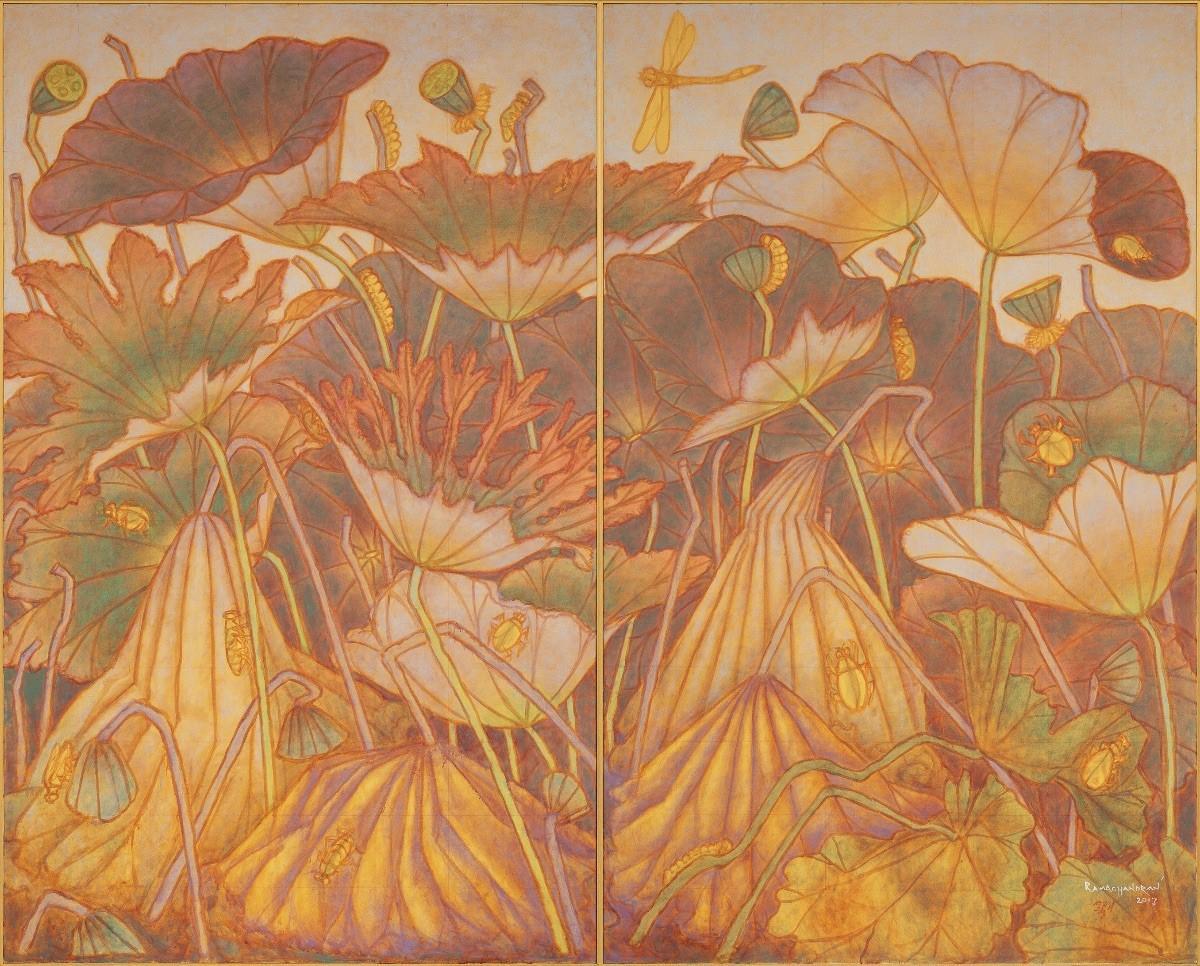L'artiste indien ARamachandran à la Vadehra Art Gallery