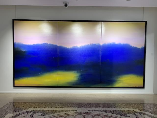 PARIS. L'artiste franco-chinois Feng Xiao-Min. Opera Gallery