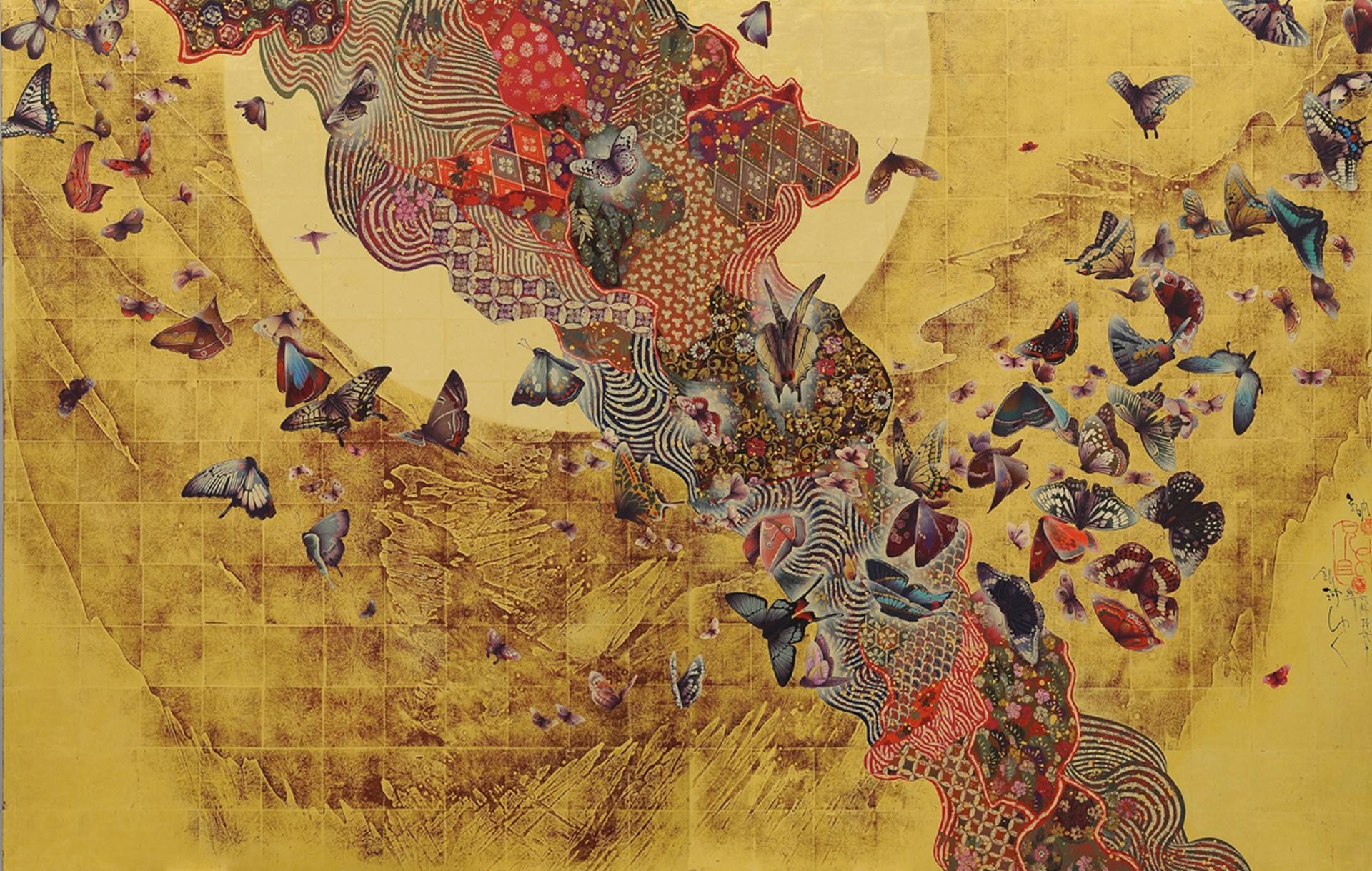 TOKYO. Japanese artist Kyosuke Tchinai. Tamenaga Gallery