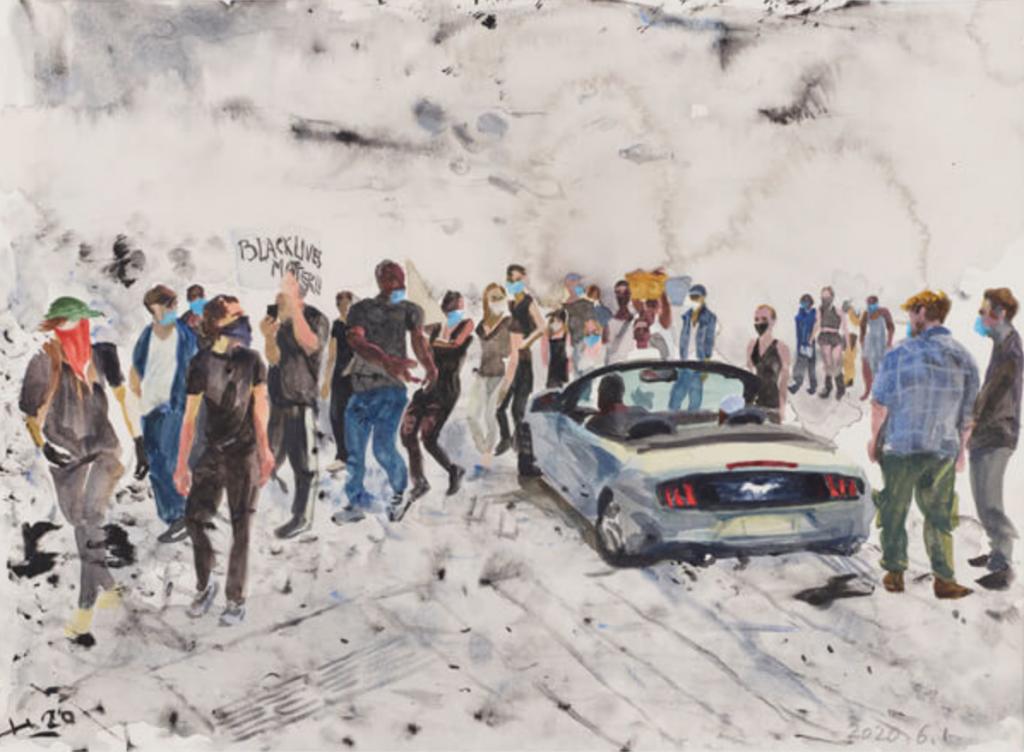 L'artiste chinois Liu Xiaodong à la Lisson Gallery NY