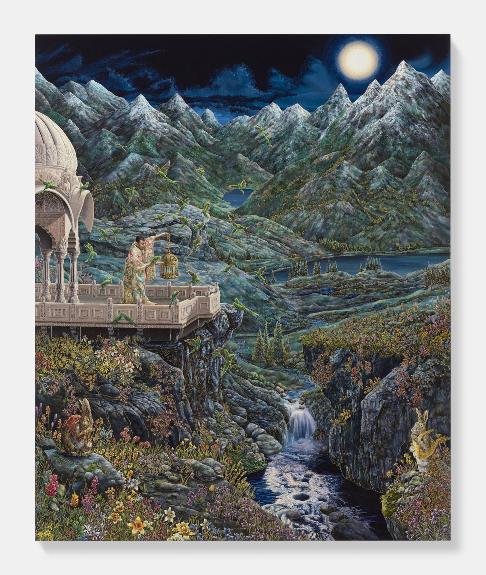 L'artiste indien Raqib Shaw, Pace Gallery, Genève