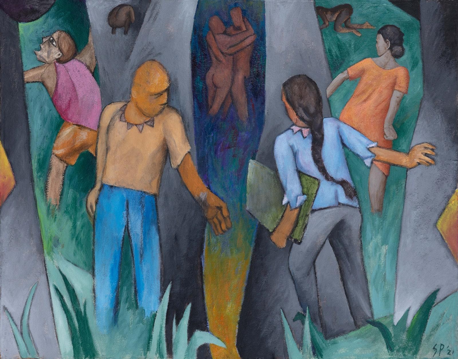 NEW DELHI. L'artiste indien Sudhir Patwardan, Vadhera Art Gallery