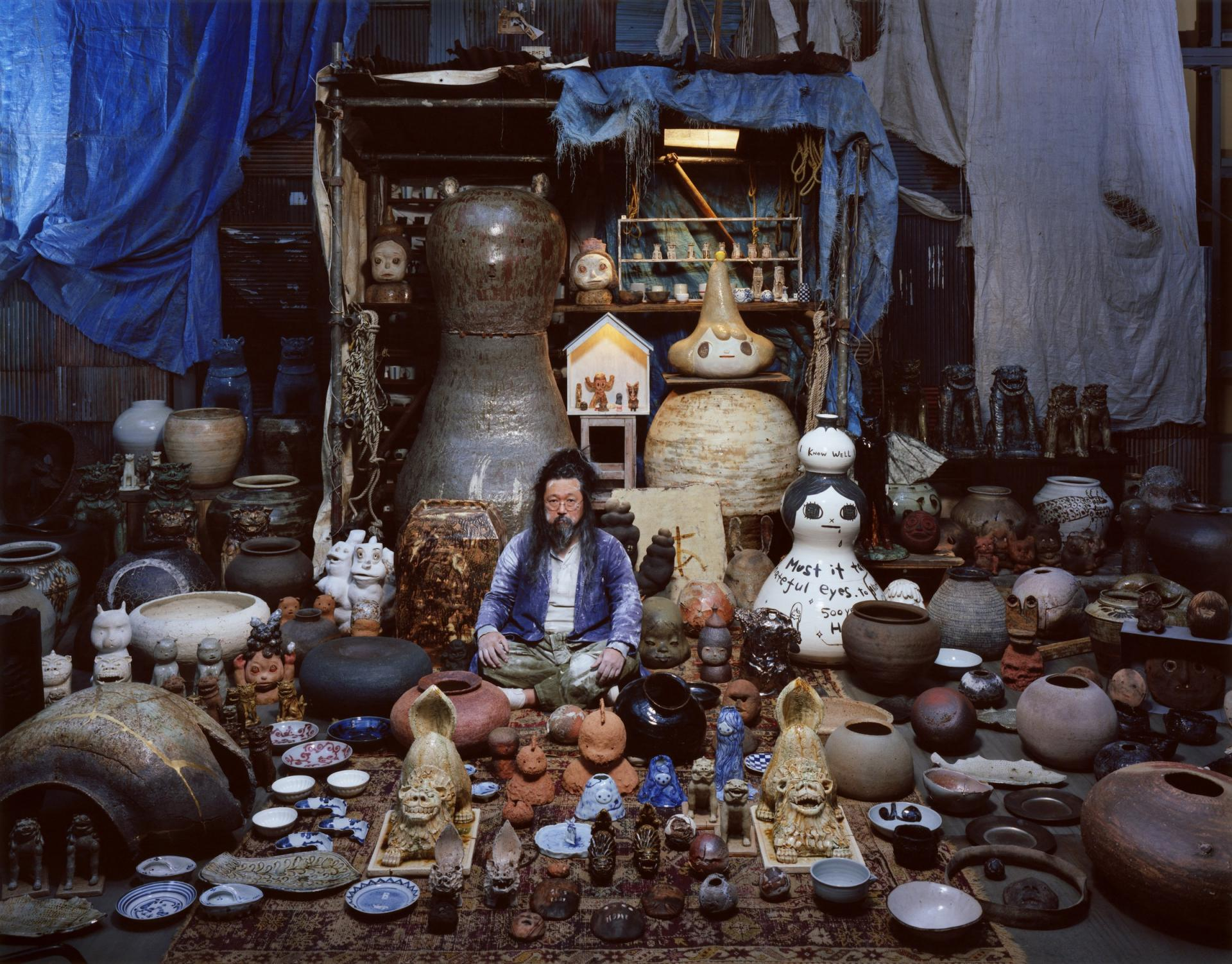 Japanese artist Takashi Murakami, curator, Perrotin Matignon