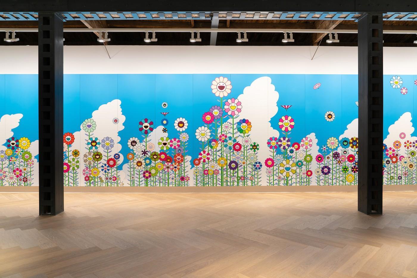 L'artiste japonais Takashi Murakami à Perrotin Shanghai