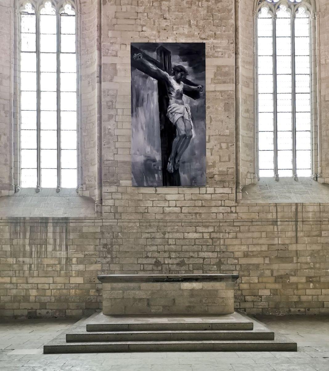 AVIGNON. L'artiste franco-chinois Yan Pei-Ming, Palais des Papes